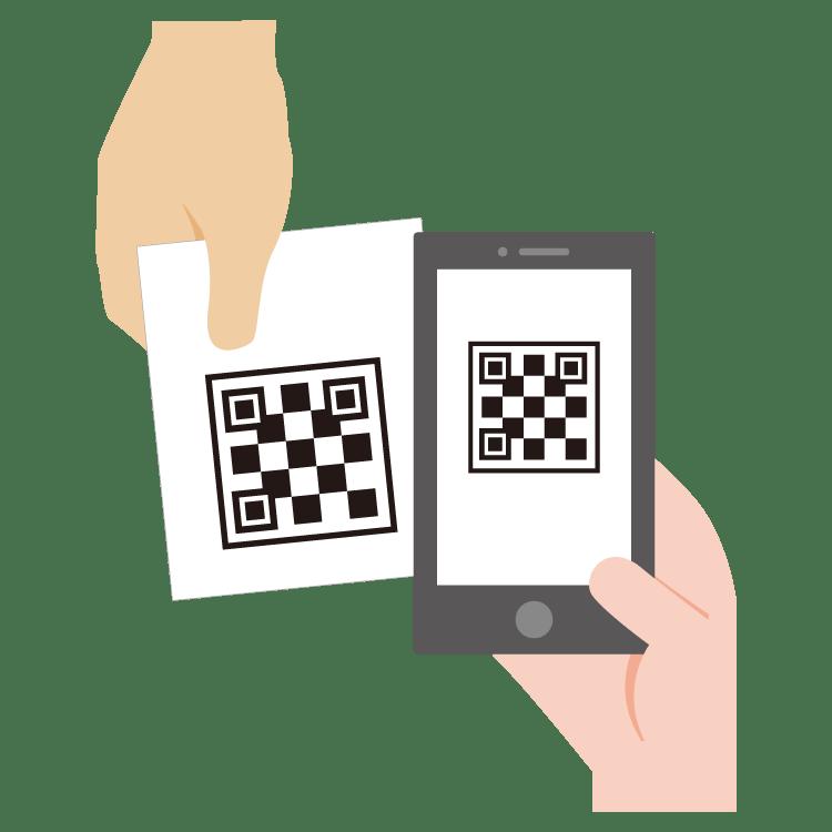 入力された内容を確認し、承認用QRコードを掲示